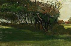 Vincent van Gogh - Landscape with Windswept Trees - 1884