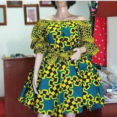 Ankara dress / Africa print kinte dress / short party dress and wedding dress African Shirt Dress, Latest African Fashion Dresses, African Dresses For Women, African Print Fashion, Africa Fashion, Ankara Short Gown Styles, Lace Gown Styles, Short Dresses, Lace Dresses
