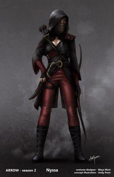 "Concept art of Nyssa al Ghul by Andy Poon for ""Arrow"" (2013)."