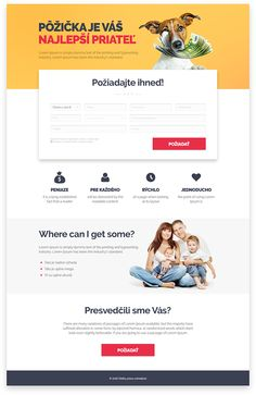 Material Design Landing Page