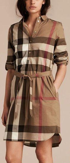 Check Cotton Shirt-Brown