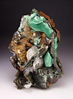 Titanite with Quartz & Chlorite from Pakistan  by Dan Weinrich