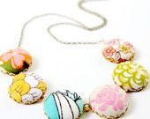 Pastel Up Cycled Textile Necklace