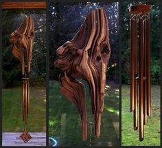 Wind Chime Driftwood Copper Wind Chimes Windchime by CoastChimes
