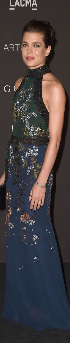 Charlotte Casiraghi in Gucci. Daughter of Princess Caroline, granddaughter of Princes Grace (Grace Kelly).