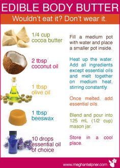 Homemade edible body butter