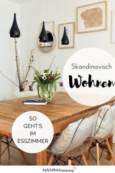 Interior Ideen_Skandinavisch Wohnen im Esszimmer und Bilder als Deko