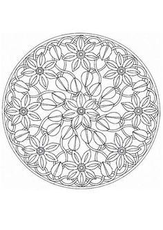Difficult Level Mandala Coloring Pages | Mandala Coloring Pages Advanced Level Mandala coloring pages