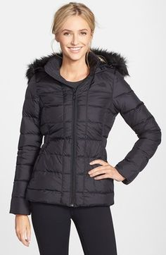 Free shipping and returns on The North Face 'Gotham' Faux Fur Trim Down Jacket at Nordstrom.com. The mountain-tested warmth of a quilted jacket insulated with lofty 550-fill power down is designed to be comfortable strolling the chicest city streets. A removable faux-fur ruff atop the zip-off hood is rugged and sophisticated in equal measure.