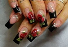 Having short nails is extremely practical. The problem is so many nail art and manicure designs that you'll find online Frensh Nails, Rose Nails, Flower Nails, Manicures, Rose Nail Art, Acrylic Nails, Baby Nail Art, Pastel Nails, Bling Nails