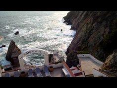 View from the Hotel Mirador, Acapulco, Quebrada - YouTube