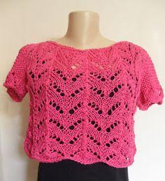 Receita de Tricô: Blusa em tricô para o verão                              …