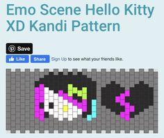Pony Bead Patterns, Kandi Patterns, Beading Patterns, Scene Kids, Emo Scene, Diy Kandi Bracelets, Pony Bead Crafts, Kandi Cuff, Quiet Book Patterns