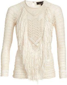 isabel marant fringe sweater