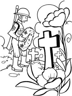 I honour and remember you for you great sacrifice on Remembrance Day coloring pages