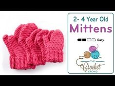 Keep the young people in your life warmer this winter with a fresh pair of Crochet Mittens for 2 to 4 year old sizes. These mittens are easy to make from s...