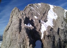The crux ridge on Les Dents Blanches