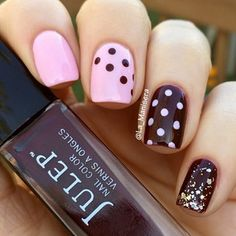 Dotticure with Butter London Teddy Girl and Julep Coco. By La_Manisera on Instagram.