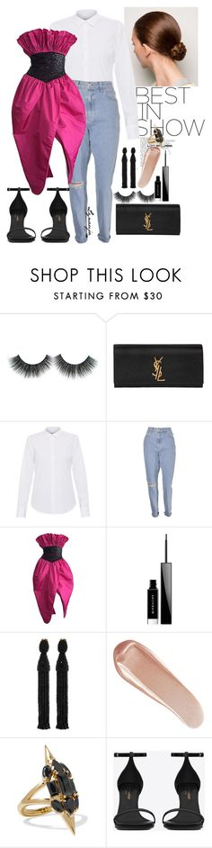 """Casually Formal!"" by lynrobinson on Polyvore featuring Yves Saint Laurent, Lareida, Victor Costa, Givenchy, Oscar de la Renta, NARS Cosmetics and Noir Jewelry"