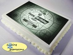 Fallout Shelter Pip-Boy Edible Image Cake by CakingImpressions
