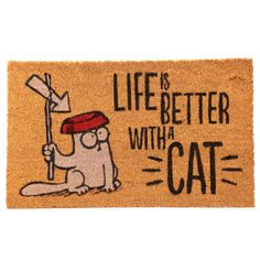 Simon's Cat Paillasson avec inscription en allemand Life is Better With A CAT - version allemande Cat Lover Gifts, Cat Gifts, Cat Lovers, Simons Cat, Cat Themed Gifts, Cat Run, Coir Doormat, Cat Memes, Cool Cats