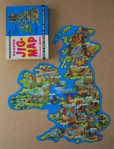 Vintage Jig Map British Isles Waddingtons jigsaw puzzle No 421 Jigmap England | eBay