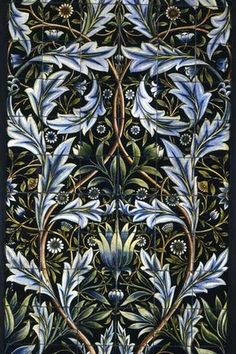 24 New Ideas Art Nouveau Design Pattern Illustration William Morris Art Nouveau, William Morris Art, Motif Art Deco, Tile Panels, Art Japonais, Pre Raphaelite, Arts And Crafts Movement, Victoria And Albert Museum, Tile Art
