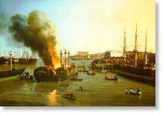 Fire in San Francisco Bay, 1856