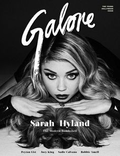 Sarah Hyland goes mega-glam for Galore