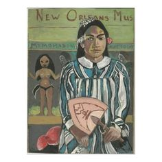New Orleans Music after Gauguin Poster by figstreetstudio