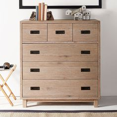 PB Teen Morgan Tall Dresser, Smoked Gray (1,415 CAD) ❤ liked on Polyvore featuring home, furniture, storage & shelves, dressers, mid century modern furniture, drawer dresser, pbteen furniture, midcentury modern dresser and mid century modern dresser