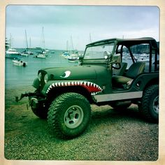 On Catalina..... Cool jeep