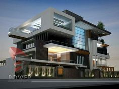 Modern Architecture Home Design For Ultra Modern House Architecture Design, Modern Architecture House, Indian Architecture, Federal Architecture, Staircase Architecture, Computer Architecture, British Architecture, Plans Architecture, Minecraft Architecture