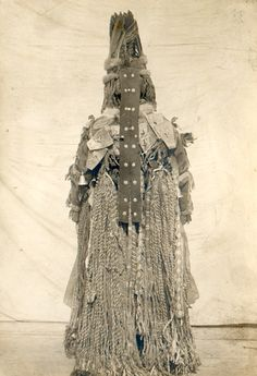 "eurasian-shamanism: "" Photographs of a Tofalar shamaness showing the front and back of her outfit """