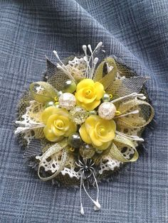 Ribbon Art, Fabric Ribbon, Ribbon Crafts, Flower Crafts, Cloth Flowers, Felt Flowers, Beaded Flowers, Fabric Flowers, Textile Jewelry