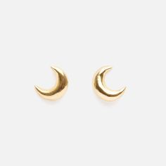Celestial motifs are taking centre stage this season and these crescent moon studs are both stylish and elegant. Handmade by local brand Bennt, they're constructed from gold-plated sterling silver. Moon Earrings, Stud Earrings, Studs, Sterling Silver, Elegant, Stylish, Gold, Handmade, Jewelry