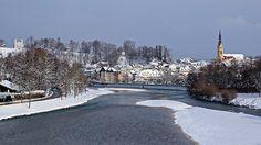 Isar und Altstadt von Bad Tölz by Martin Fischhaber, via Flickr