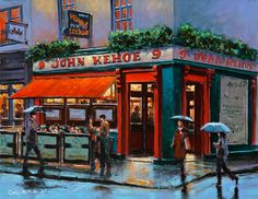 Kehoes, Pub, Dublin, signed limited edition prints, by Chris McMorrow - www.keelinggallery.com - from €45 Dublin Pubs, Old Pub, James Joyce, Irish Art, Building Art, Luck Of The Irish, Cafe Restaurant, Fine Art Paper, Architecture Art
