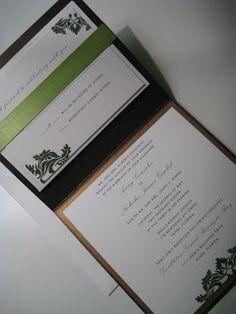 Downtown Miami Wedding - Brown and Green Invitation - Paper goods by Le Petit Papier - www.lepetitpapierbymonica.com