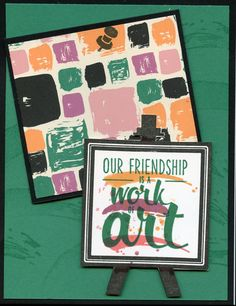 Cased from Satoni Wellard: Playful Pallet and Painter's Pallet stamp set.