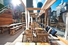 Sanctuary Hotel New York Times Square, New York City Picture: Haven Rooftop South Side - Check out Tripadvisor members' candid photos and videos. Rooftop Design, Rooftop Lounge, Rooftop Restaurant, Bar Lounge, Hotel Rooftop Bar, Lounge Ideas, Restaurant Design, Haven Rooftop, Best Rooftop Bars Nyc