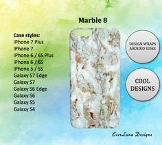 Marble iPhone 7 Case iPhone 7 Plus Case iPhone 6 by EverLunaStore Iphone 6, Iphone 7 Plus Cases, Galaxy, Phone Case, Marble, Wraps, Unique Jewelry, Handmade Gifts, Etsy