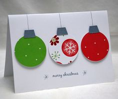 3 ornaments card