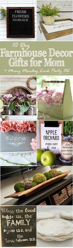 These 10 DIY farmhouse décor gifts for mom will brighten her Mother's Day. Most are so easy that you can knock out multiple projects in the same afternoon.