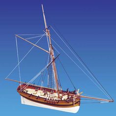 Caldercraft HM Cutter Sherbourne HM Cutter Sherbourne Model Kit with 8 3pdr guns and 10 swivel guns