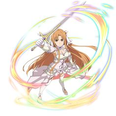 Lady Fantasy, Fantasy Women, Asuna Sao, Sword Art Online Asuna, Cartoon Icons, Star Art, Blue Wallpapers, Manga, Anime Art Girl