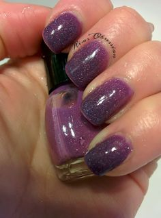 Feeling Romantic- La Bella Vernice   pink to purple thermal polish (cold temps)