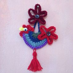 Crochet a Lovely Rooster for Decoration