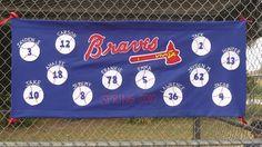 blueSusan makes: Play Ball! A Team Banner Tutorial<br> Team Mom, A Team, Baseball Banner, Baseball Crafts, Baseball Birthday, Baseball Girlfriend, Baseball Mom, Softball, Baseball Pitching