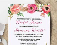 Free Wedding Shower Invitation Templates  Bridal  Wedding
